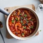 White Bean Soup with Tomato & Shrimp
