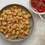 Air-Fryer Cauliflower Gnocchi with Marinara Dipping Sauce