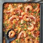 Sheet-Pan Shrimp Fried Rice