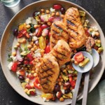 Grilled Greek Chicken & Vegetable Salad