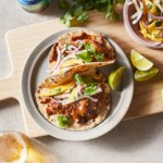 Chicken Mole Tacos with Mango-Jicama Slaw