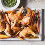 Crispy Roast Chicken & Carrots