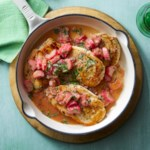 Easy Chicken Cutlets with Rhubarb Sauce