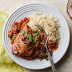 Braised Chicken Thighs with Olive, Orange & Fennel