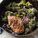 Skillet Chicken Breast & Broccoli with Mustard-Rosemary Pan Sauce
