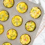 Muffin-Tin Omelets with Broccoli, Ham & Cheddar