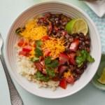 "Black Bean-Cauliflower ""Rice"" Bowl"