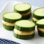 Cucumber Hummus Sandwiches