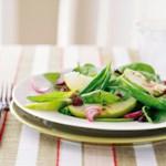 Apple Spinach Salad with Thyme-Dijon Vinaigrette