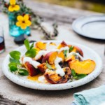 Grilled Peaches with Honey Mascarpone