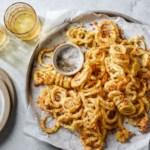 Baked Garlic-Lemon Summer Squash Curly Fries