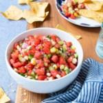 Watermelon, Cucumber & Corn Salsa