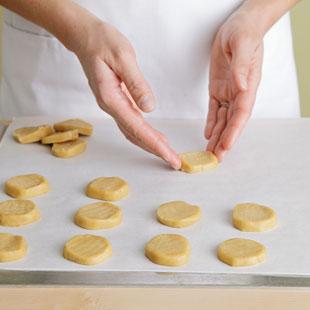 Reshape Cookies on a Baking Sheet