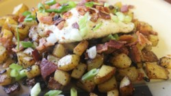 Homefried Potatoes with Garlic and Bacon Recipe ...