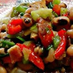 Kate's Black-Eyed Pea Salad Recipe - Flavorful black-eyed pea recipe, originally designed for New Year's Eve but great for any time of year.
