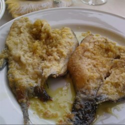 Baked trout in northern Italy