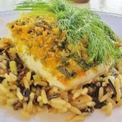 Herb Crusted Halibut Recipe - These halibut fillets are crusted with a variety of fresh herbs and panko bread crumbs to make a crispy, flavorful meal.