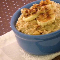 Creamy Banana Walnut Oatmeal