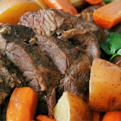 Slow Cooker Beef Pot Roast (with my modifications)