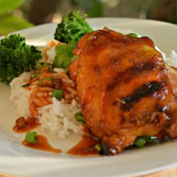 Huli Huli Chicken Recipe - A Hawaiian variation of teriyaki chicken is marinated in a pineapple juice mixture and baked in a hot oven. Turn and baste the chicken every 10 minutes for flavorful, brown, tender meat. Serve over sticky rice.