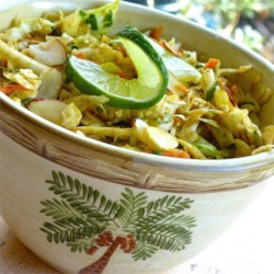 Cilantro Lime Coleslaw Recipe - A Southwestern twist on traditional coleslaw is a perfect accompaniment to liven up your next barbeque.