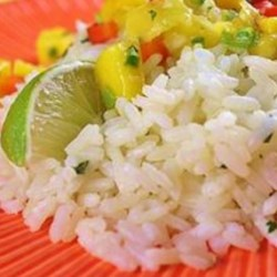 Cilantro-Lime Rice Recipe - Very similar to the rice of a famous burrito place, this rice pairs well with Mexican food and can be used as a filler in burritos.