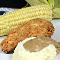 Burton's Southern Fried Chicken with White Gravy Recipe - Use this recipe to make a traditional buttermilk fried chicken with delicious creamy pan gravy. The chicken can be marinated up to 2 days.