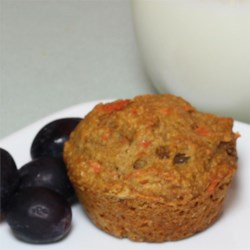 Whole Wheat Carrot-Raisin Muffins