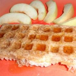 Dairy and Wheat Free Apple-Cinnamon Spelt Waffles