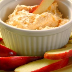 Cheese and Port Dip for Apples Recipe - Cheddar cheese, sour cream, and port wine combine to make a very adult dip for apples.