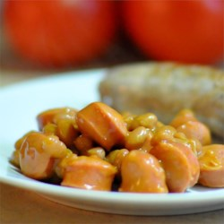 Jack's Beanie-Weenies Recipe - This is my Dad's famous recipe. He used to make it for my sister and I when we were little and we both loved it! Use kosher hot dogs for the best flavor.