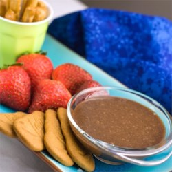 Caramel Chocolate Dip Recipe - Caramel Chocolate Dip is a treat that will entice kids to eat their fruit.