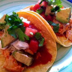 Mexican Slow-Cooked Chicken Tacos