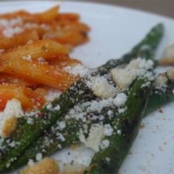 Seasoned Asparagus Recipe - This is a quick and easy recipe for a delicious asparagus side dish.