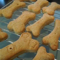 Birthday Bones Recipe - These cookies are great for your favorite furry friend.  Every dog I have given these to loves them.  It is nice to use doggie type cookie cutters, like bones or fire hydrants.