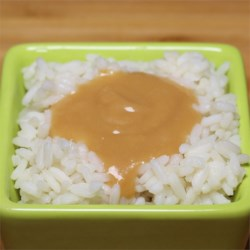 Simple Beef Flavored Gravy Recipe - A quick and easy gravy made with beef bouillon, flour, onion and butter.  Serve over mashed potatoes, if desired.