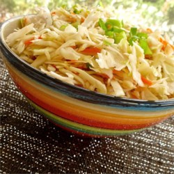 5 Minute Slaw Recipe - Celery seeds add nice flavor to this tangy oil-free slaw.