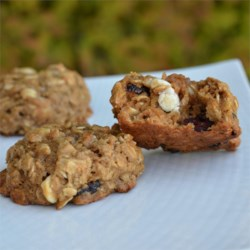 Cran Oat Cookies Recipe - This version of oatmeal cookies with tasty dried cranberries and white chocolate chips is great for picnics and camping. Kids love 'em, too.