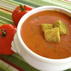 Quick and Easy Cream of Tomato Soup Recipe - Use canned diced tomatoes and whole milk to make a delicious creamy tomato soup.