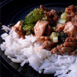 Chinese Style Ground Pork and Tofu Recipe - Ground pork and firm tofu are cooked together with spicy black bean sauce in this quick and easy, traditional recipe.  If you like spicy Chinese food, you'll love this!