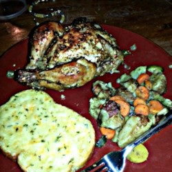 Cornish Hens with Garlic Cream Cheese