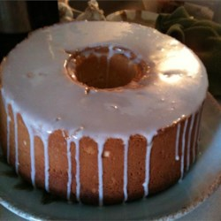 Cream Cheese Pound Cake Recipe - Butter and cream cheese provide the rich taste in this deliciously dense pound cake.