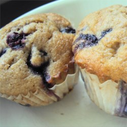 Blueberry Cream Muffins Recipe - Rich and delicious blueberry muffins. The secret is the sour cream.
