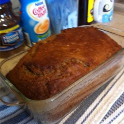 Mother's Banana Bread Recipe - This is a big banana-nut loaf with a big banana taste.  Baking powder gives extra leavening.