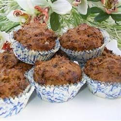 Fat Free Mini Prune Honey Muffins Recipe - Absolutely fat free, but wholly satisfying and especially delicious with some warm maple syrup at breakfast.