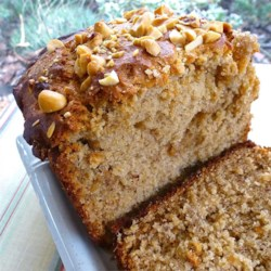 Simple Peanut Butter Banana Bread Recipe - Classic banana bread with a generous helping of peanut butter makes this easy loaf a delicious breakfast treat or snack.