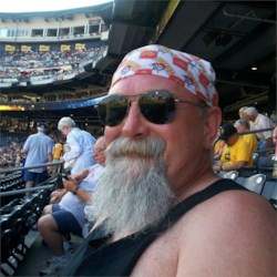 Chillin' at PNC Park watching the Pirates and eating Kahn's hotdog.