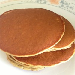 Healthy Protein Pancakes Recipe - Sweet potato and banana are mixed with protein powder and eggs creating a higher protein pancake that everyone in the family will enjoy.