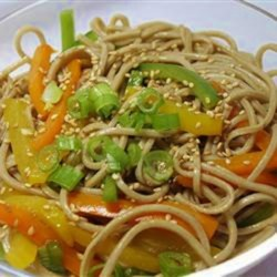 Sesame Udon Noodles Recipe - This is a wonderful side dish to serve with your Asian-themed meal. So quick and easy to prepare.