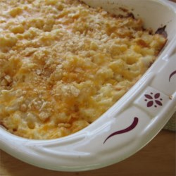 Ali's Potato Casserole Recipe - This potato casserole uses Southern-style hash browns and processed cheese food under a crispy layer of corn flakes cereal.